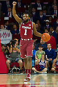 DALLAS, TX - FEBRUARY 19: Josh Brown #1 of the Temple Owls brings the ball up court against the SMU Mustangs on February 19, 2015 at Moody Coliseum in Dallas, Texas.  (Photo by Cooper Neill/Getty Images) *** Local Caption *** Josh Brown