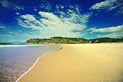 A deserted Grassy Head beach in NSW Australia.