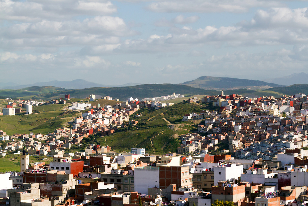 TANGIER, MOROCCO - 25th March 2014 - View over the Tangier medina, Rif region, Northern Morocco
