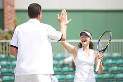 MANCHESTER, ENGLAND: Martina Hingis (SUI) ad Richard Krajicek (NED) on Day 5 of the Manchester Masters Tennis Tournament at the Northern Tennis Club. (Pic by David Tickle/Propaganda)