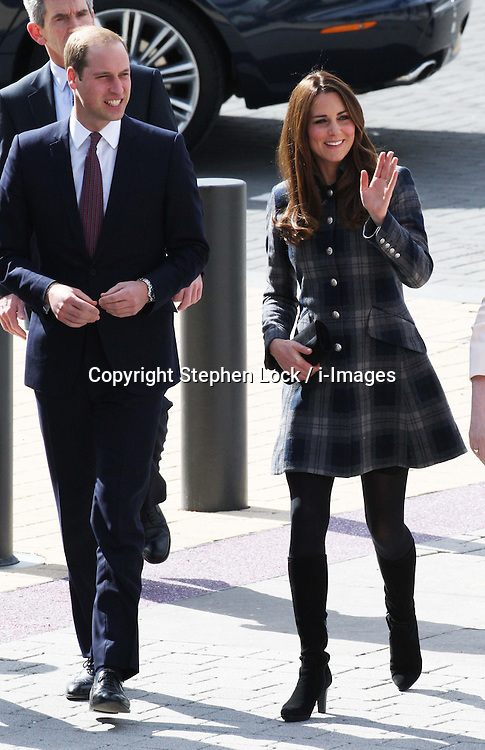 The Duke and Duchess of Cambridge arriving at the Emirates Arena in Glasgow, Thursday, 4th April 2013.  Photo by: Stephen Lock / i-Images