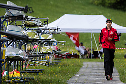 During semi final round  Rowing World Cup on May 9, 2015, at Bled's lake, Bled, Slovenia. (Photo by Grega Valancic / Sportida)