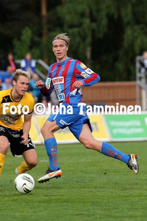 11.6.2012, Harjun stadion, Jyv?skyl?..Veikkausliiga 2012..JJK Jyv?skyl? - Kuopion Palloseura..Lasse Linjala - JJK