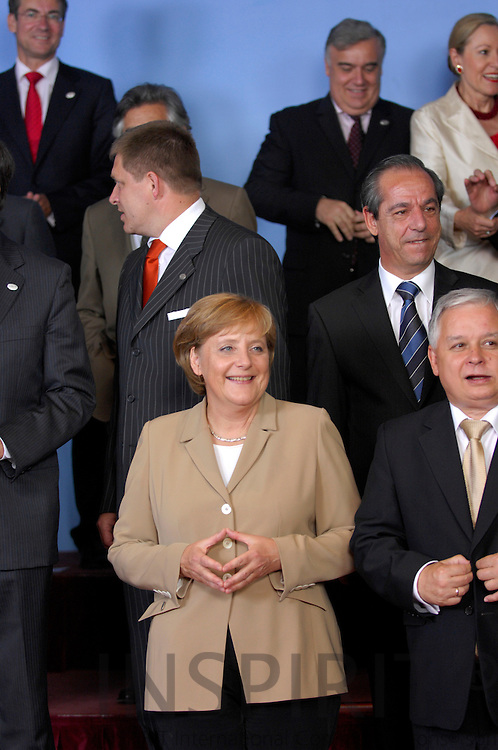 BRUSSELS - BELGIUM - 21 JUNE 2007 -- EU-SUMMIT Family Photo -- The German Chancellor Angela MERKEL during the traditional Family Photo.  Photo: J. Eugene