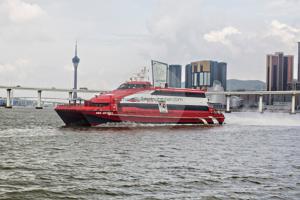 Turbo Jet ferry for leaves Macau for Hong Kong.