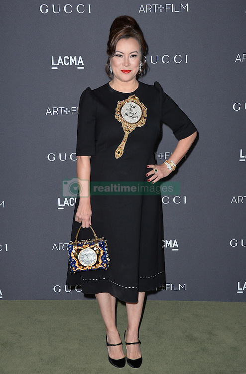 Jennifer Tilly attends the 2016 LACMA Art + Film Gala honoring Robert Irwin and Kathryn Bigelow presented by Gucci at LACMA on October 29, 2016 in Los Angeles, California. Photo by Lionel Hahn/AbacaUsa.com