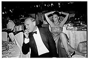 Barry Diller and Diane von Furstenberg at a party given by Valentino, Rome. 7 June 1991. © Copyright Photograph by Dafydd Jones 66 Stockwell Park Rd. London SW9 0DA Tel 020 7733 0108 www.dafjones.com