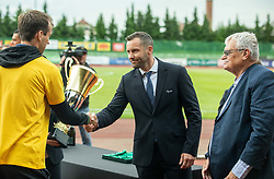 Martin Kozelj of NZS during celebration of NK Bravo, winning team in 2nd Slovenian Football League in season 2018/19 after they qualified to Prva Liga, on May 26th, 2019, in Stadium ZAK, Ljubljana, Slovenia. Photo by Vid Ponikvar / Sportida