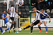 Notts County forward Jonathan Stead (30) gets in a shot during the EFL Sky Bet League 2 match between Notts County and Chesterfield at Meadow Lane, Nottingham, England on 12 August 2017. Photo by Nigel Cole.