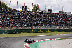 May 13, 2018 - Barcelona, Catalonia, Spain - 44 Lewis Hamilton from Great Britain Mercedes W09 Hybrid EQ Power+ team Mercedes GP in front of Spanish fans during the Spanish Formula One Grand Prix at Circuit de Catalunya on May 13, 2018 in Montmelo, Spain. (Credit Image: © Xavier Bonilla/NurPhoto via ZUMA Press)