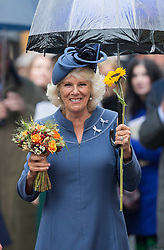 Harvest for British Food Fortnight Service. Westminster Abbey, London, United Kingdom. Wednesday, 16th October 2013. Picture by i-Images<br /> <br /> Camilla, Duchess of Cornwall at the service.