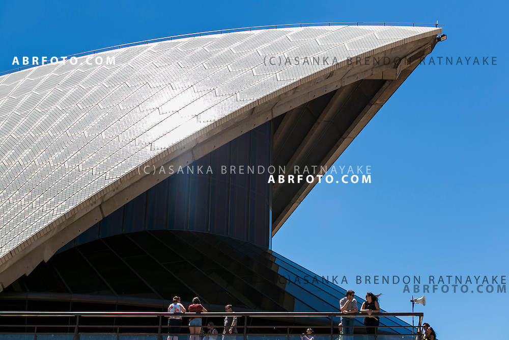 An abstract and different viewpoint of the Sydney Opera House