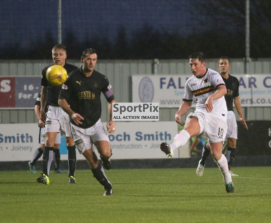Kirkpatrick tries a lob during the Falkirk v Dumbarton  Scottish Championship  26  December 2015 <br /> <br /> (c) Andy Scott | SportPix.org.uk