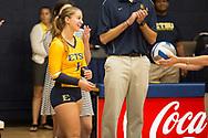 September 19, 2017 - Johnson City, Tennessee - Brooks Gym: ETSU defensive specialist Hailey Aguilar (1)<br /> <br /> Image Credit: Dakota Hamilton/ETSU