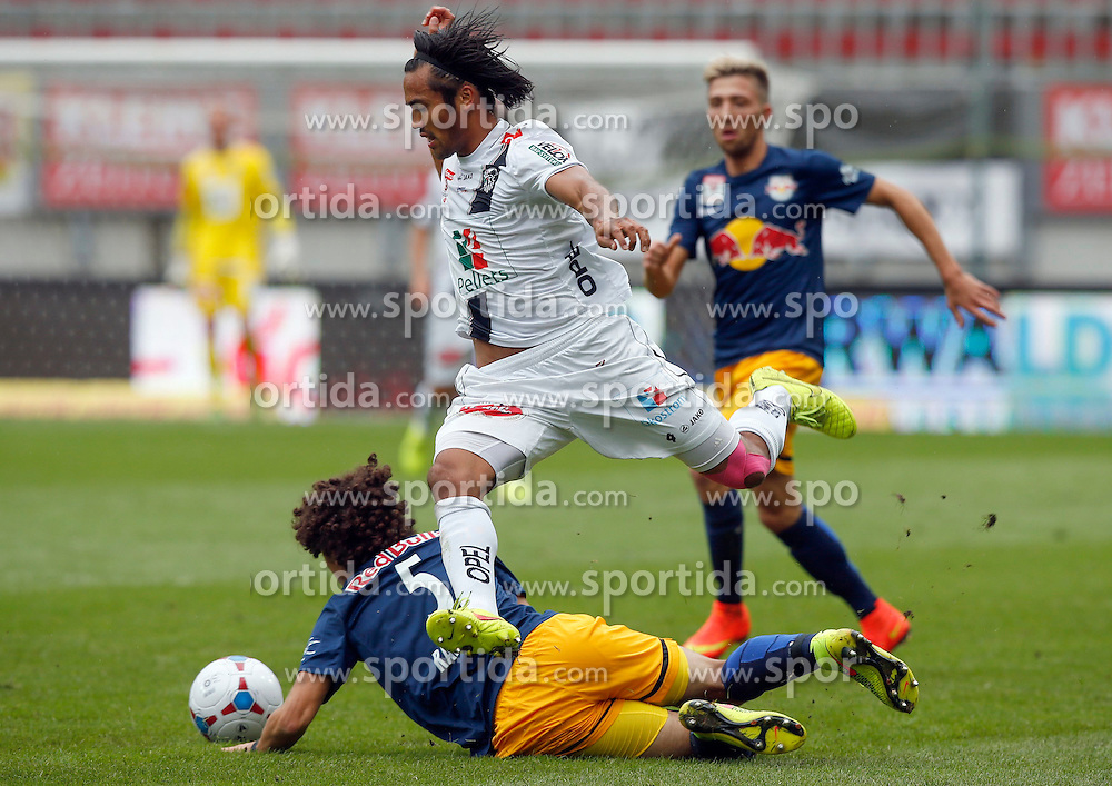 14.09.2014, Wörthersee Arena, Klagenfurt, AUT, 1. FBL, RZ Pellets WAC vs FC Red Bull Salzburg, 8. Runde, im Bild v.l. Andre Ramalho Silva (FC Red Bull Salzburg), Silvio Carlos De Oliveira (RZ Pellets WAC) // during the Austrian Football Bundesliga 8th Round match between RZ Pellets WAC and FC Red Bull Salzburg at the Woerthersee Stadium in Klagenfurt Austria on 2014/09/14, EXPA Pictures © 2014, PhotoCredit: EXPA/ Wolfgang Jannach