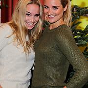 NLD/Amsterdam/20111208- Sky Radio Christmas tree for Charity, Lieke van Lexmond en zus Jetteke