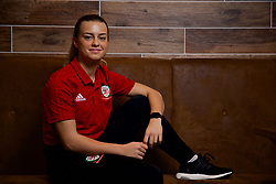 NEWPORT, WALES - Thursday, January 17, 2019: Wales' Ella Powell during a media session at the Coldra Court Hotel ahead of the International Friendly game against Italy. (Pic by David Rawcliffe/Propaganda)