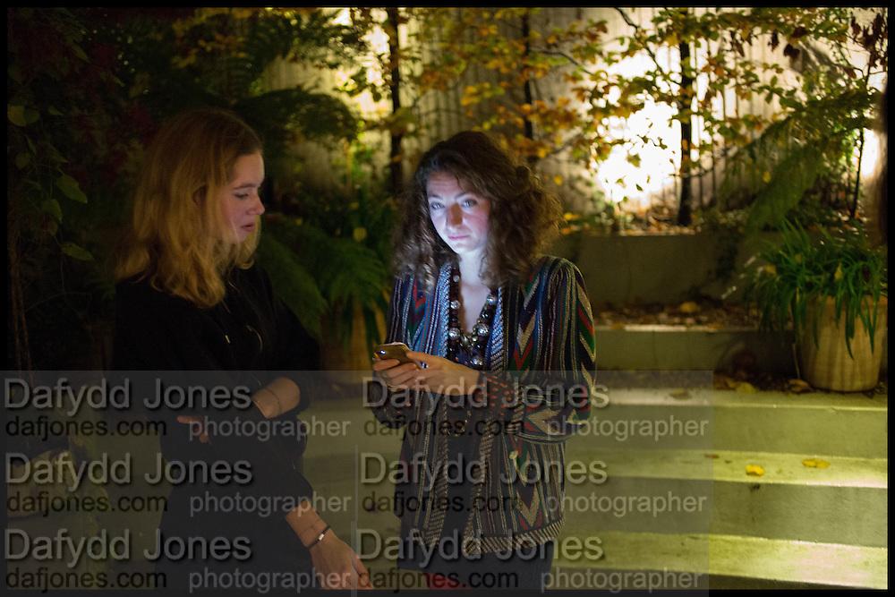 MADELEINE ROGER-LACAN; ANNA KLOSSOWSKI, James Franco exhibition 'Fat Squirrel' at Siegfried Contemporary, Basset Rd, London W10. 23 November 2014.