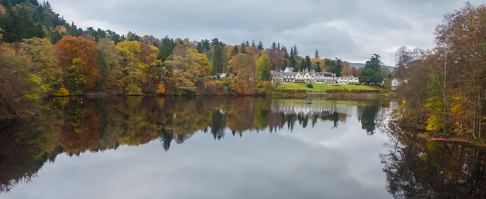 Loch Fiskally Autumnal Reflections looking towards The Green Park Hotel.<br /> Neil Bain | EEm 4th November 2017