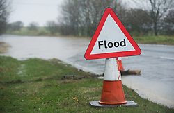 © Licensed to London News Pictures. 26/11/2012..Boulby, North Yorkshire..The main road between Easington and Staithes has warning signs out following another night of heavy rain that caused disruption in parts of East Cleveland and North Yorkshire...Photo credit : Ian Forsyth/LNP