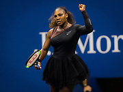 Serena Williams of the United States in action during the first round of the 2018 US Open Grand Slam tennis tournament, New York, USA, August 27th 2018, Photo Rob Prange / SpainProSportsImages / DPPI / ProSportsImages / DPPI