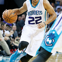 03 November 2015: Charlotte Hornets guard Brian Roberts (22) dribbles during the Charlotte Hornets  130-105 victory over the Chicago Bulls, at the Time Warner Cable Arena, in Charlotte, North Carolina, USA.