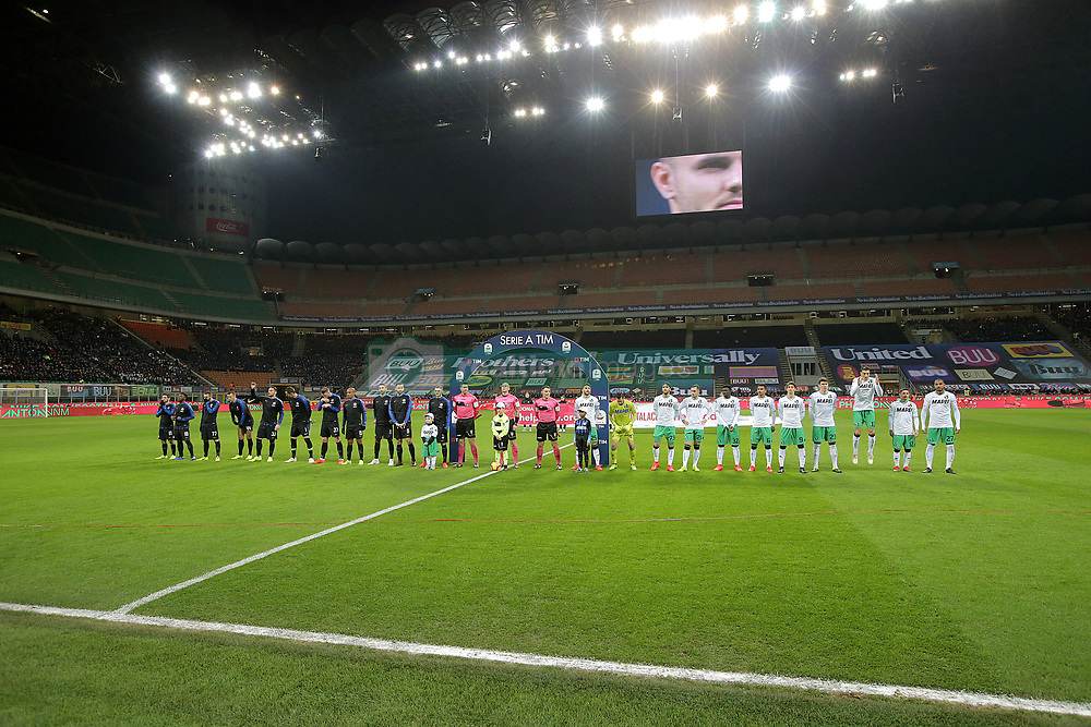 January 19, 2019 - Milan, Milan, Italy - FC Internazionale Milano and US Sassuolo during the serie A match between FC Internazionale and US Sassuolo at Stadio Giuseppe Meazza on January 19, 2019 in Milan, Italy. (Credit Image: © Giuseppe Cottini/NurPhoto via ZUMA Press)