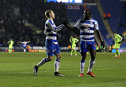 Matej Vydra of Reading celebrates completing his hat-trick against Huddersfield Town in The FA Cup Third Round Replay - Mandatory byline: Robbie Stephenson/JMP - 19/01/2016 - FOOTBALL - Madejski Stadium - Reading, England - Reading v Huddersfield - FA Cup Third Round