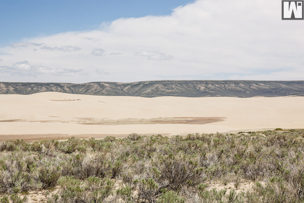 Killpecker Sand Dunes in Southern Wyoming, it is the second largest active sand dune field in the world.