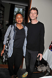 ANDREW & STEPHANIE HALE at a dinner hosted by Bella Freud for German artist Marcel Odenbach at her home 275 Kensal Road, London W10 on 6th June 2011.