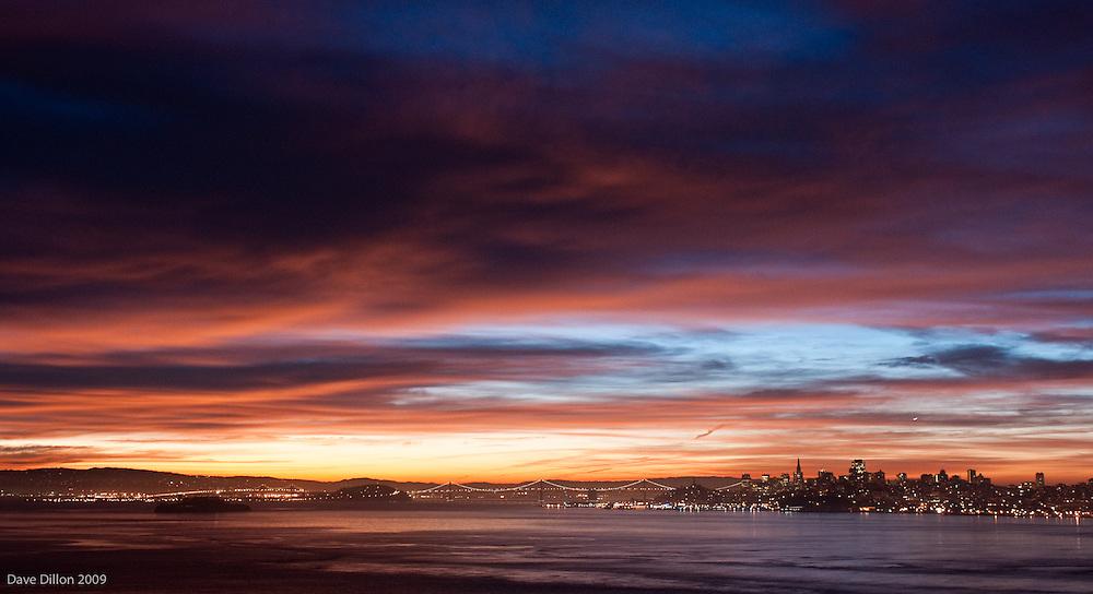 Sunrise over San Francisco