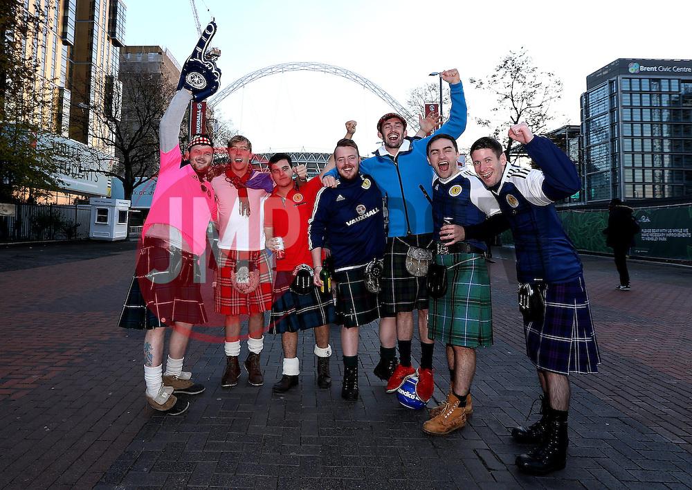 Scotland fans at Wembley - Mandatory by-line: Robbie Stephenson/JMP - 11/11/2016 - FOOTBALL - Wembley Stadium - London, United Kingdom - England v Scotland - European World Cup Qualifiers