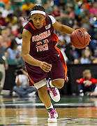 Virginia Tech's Shanel Harrison finishes with 10 points during their 81 - 58 loss to Georgia Tech in the opening round of the 2011 ACC Women's Basketball Tournament held at the Greensboro Coluseum in Greensboro, North Carolina.  (Photo by Mark W. Sutton)