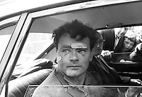 Arthur Murphy, who was a passenger in the car, in which Harry Thornton, 28 years, from Crossmaglen, Co Armagh, was shot dead by a soldier 7th August 1971. The car in which Murphy and Thornton were travelling past Springfield Road police station back-fired twice. It is alleged in response to what he though were shots a soldier opened fire. Mr Murphy was taken into custody and when released several hours later his face was swollen and bandaged. 197108070341a<br /> <br /> Copyright Image from Victor Patterson, 54 Dorchester Park, Belfast, UK, BT9 6RJ<br /> <br /> Tel: +44 28 9066 1296<br /> Mob: +44 7802 353836<br /> Voicemail +44 20 8816 7153<br /> Skype: victorpattersonbelfast<br /> Email: victor@victorpatterson.com<br /> Email: victorpatterson@me.com (back-up)<br /> <br /> IMPORTANT: If you wish to use this image or any other of my images please go to www.victorpatterson.com and click on the Terms & Conditions. Then contact me by email or phone with the reference number(s) of the image(s) concerned.