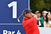 Yuan Yechum (China) in action during the Asia- Pacific Amateur Championship at Royal Wellington Golf Club, Wellington, New Zealand on Sunday 29 October.<br /> Photo by Masanori Udagawa. <br /> www.photowellington.photoshelter.com