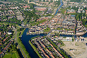Nederland, Noord-Holland, Gemeente Purmerend, 13-06-2017; overzicht historisch centrum Purmerend, Koepelkerk. Onder in beeld Zuidoostbeemster.<br /> Purmerend, small city north of Amsterdam, historical market town.<br /> <br /> luchtfoto (toeslag op standard tarieven);<br /> aerial photo (additional fee required);<br /> copyright foto/photo Siebe Swart
