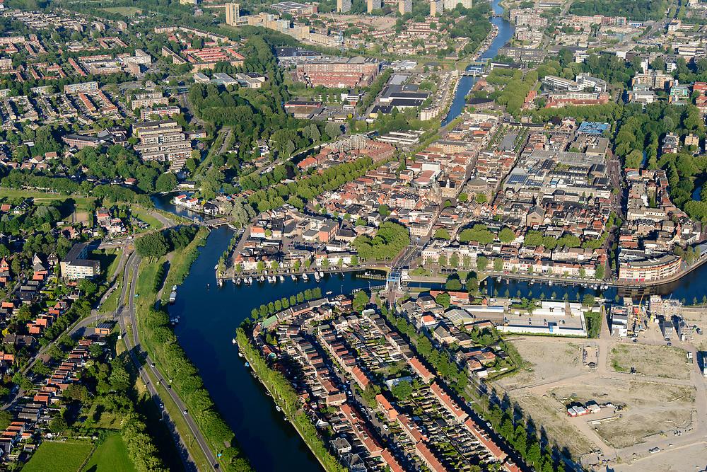 Nederland, Noord-Holland, Gemeente Purmerend, 13-06-2017; overzicht historisch centrum Purmerend, Koepelkerk. Onder in beeld Zuidoostbeemster.<br /> Purmerend, small city north of Amsterdam, historical market town.<br /> <br /> luchtfoto (toeslag op standard tarieven);<br /> aerial photo (additional fee required);<br /> copyright foto/photo Siebe Swart