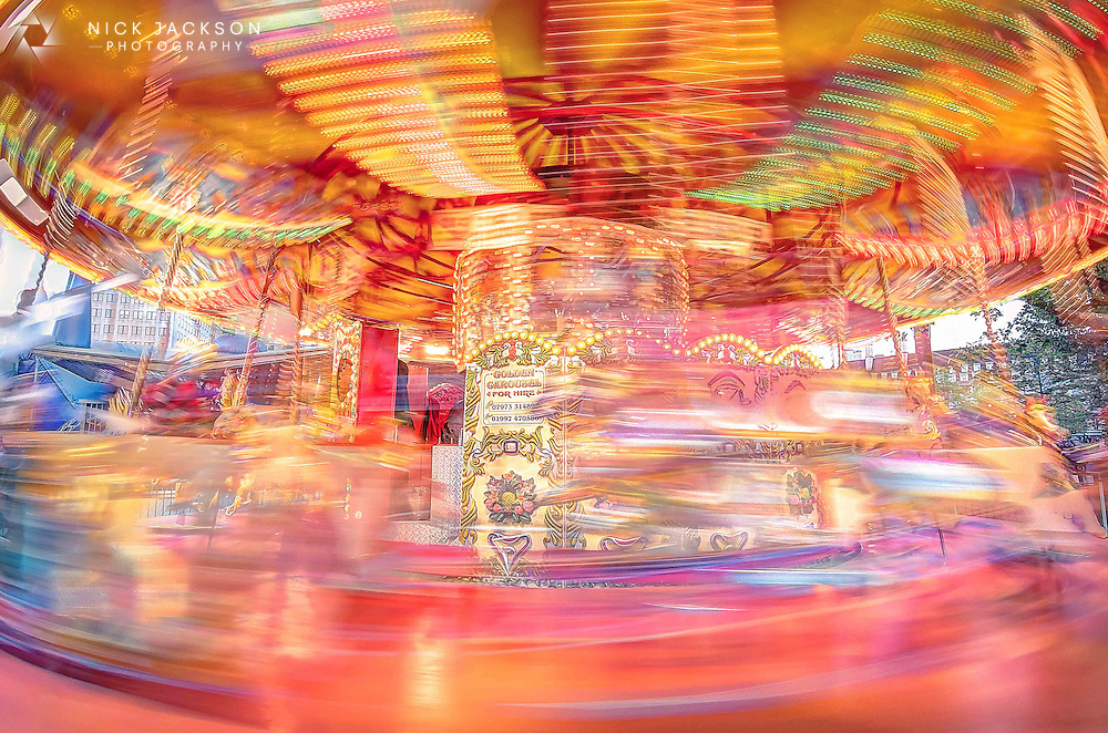 This beautiful carousel is a replica of a traditional English Carousel that was at the 1951 Festival of Britain in Battersea Park.