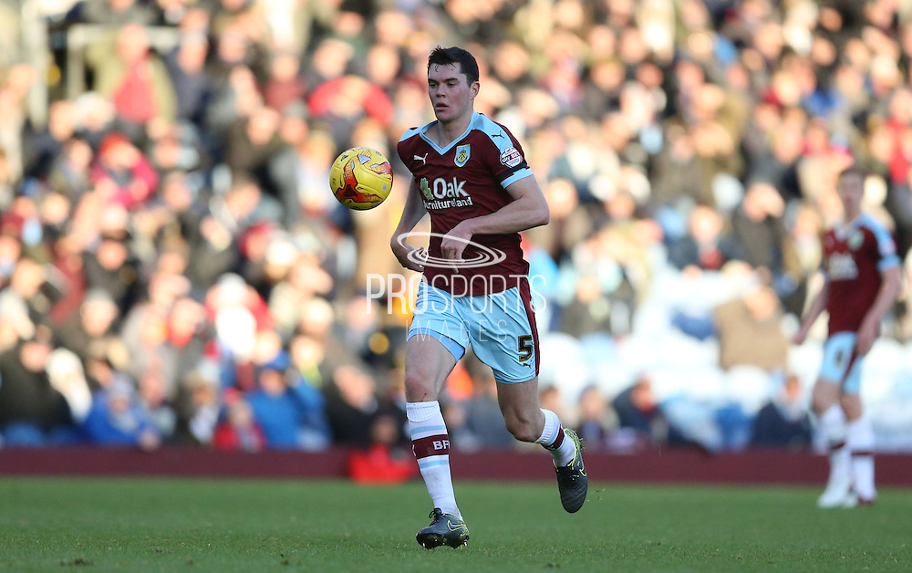 Burnley defender Michael Keane (5) during the Sky Bet Championship match between Burnley and Brighton and Hove Albion at Turf Moor, Burnley, England on 22 November 2015.