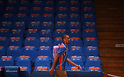 14/10/2016 Terrance Ferguson arrives at the stadium with his rookie backpack as he makes his debut in front of the Adelaide 36ers home crowd as the Adelaide 36ers vs Melbourne United at the Titanium Security Arena.