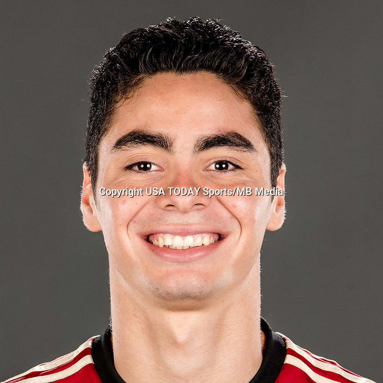 Feb 25, 2017; USA; Atlanta United FC player Miguel Almiron poses for a photo. Mandatory Credit: USA TODAY Sports