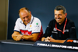 September 20, 2019, Singapore, Singapore: Frederic Vasseur (FRA, Alfa Romeo Racing), Guenther Steiner (ITA, Haas F1 Team) at press conference for FIA Formula One World Championship 2019, Grand Prix of Singapore. (Credit Image: © Hoch Zwei via ZUMA Wire)