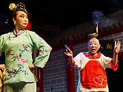 China, Sichuan. Chengdu. Sichuan Opera Chengdu Shufengya Yun. Comedy act.