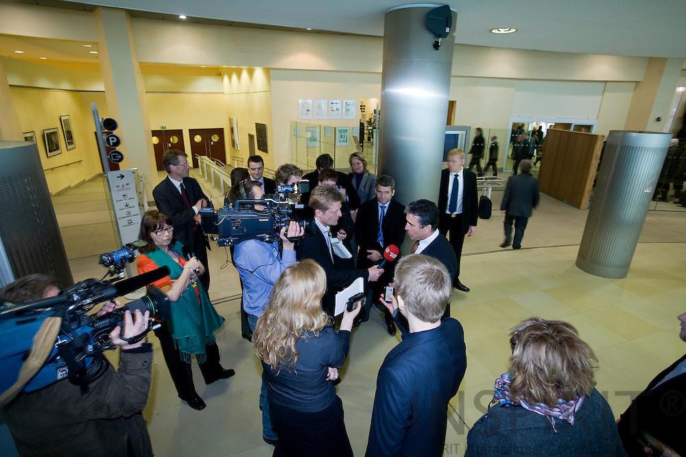 BRUSSELS - BELGIUM - 19 FEBRUARY 2008 -- Statsminister Anders FOGH RASMUSSEN giver en national pressebriefing i EU Kommissionens bygning i Bruxelles efter sit møde med the European Commission President Jose Manuel BARROSO.  Photo: Erik Luntang/