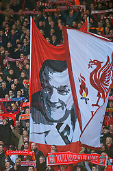 LIVERPOOL, ENGLAND - Saturday, February 6, 2010: Liverpool supporters a banner of former manager Bob Pailey during the Premiership match at Anfield. The 213th Merseyside Derby. (Photo by: David Rawcliffe/Propaganda)
