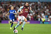 Aston Villa midfielder Jota (23) looks to release the ball during the Premier League match between Aston Villa and Everton at Villa Park, Birmingham, England on 23 August 2019.
