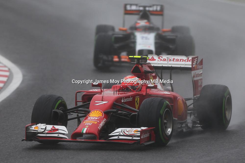 Kimi Raikkonen (FIN) Ferrari F14-T.<br /> Japanese Grand Prix, Sunday 5th October 2014. Suzuka, Japan.