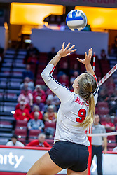 BLOOMINGTON, IL - November 22: Stef Jankiewicz during a college Women's volleyball match between the ISU Redbirds and the Sycamores of Indiana State on November 22 2019 at Illinois State University in Normal, IL. (Photo by Alan Look)