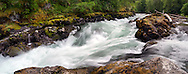 Skutz Falls on the Cowichan River in Cowichan River Provincial Park in British Columbia, Canada