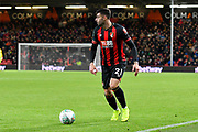 Diego Rico (21) of AFC Bournemouth during the EFL Cup 4th round match between Bournemouth and Norwich City at the Vitality Stadium, Bournemouth, England on 30 October 2018.